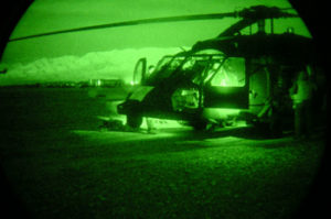 Black Hawk with Night Vision Device
