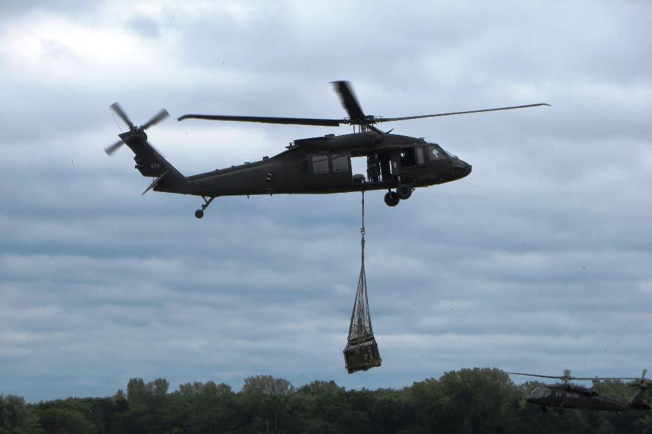 Utility Mission Equipment in Black Hawk and Utility Helicopters