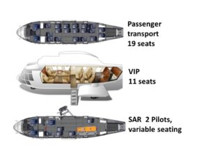 Airbus H225 seating configurations